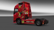 "Скин ""Angry Birds"" для Volvo FH 2012 for Euro Truck Simulator 2 miniature 3"