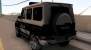 Mercedes-Benz G65 AMG BIH Police Car для GTA San Andreas миниатюра 9