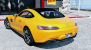 2016 Mercedes-Benz AMG GT v2.2 for GTA 5 miniature 5