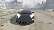 Lamborghini Reventón Hot Pursuit Police AUTOVISTA 6.0 для GTA 5 миниатюра 2
