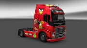 "Скин ""Angry Birds"" для Volvo FH 2012 for Euro Truck Simulator 2 miniature 1"