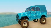 UAZ 469 Blue Star for GTA San Andreas miniature 2