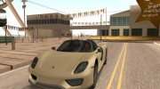 Porsche 918 Spyder Weissach Package 2015 для GTA San Andreas миниатюра 1