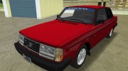 Volvo 242 Turbo Evolution for GTA Vice City miniature 3