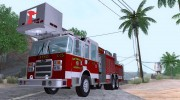 Pierce Aerials Platform. SFFD Ladder 15 для GTA San Andreas миниатюра 1