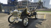 Ford T 1910 Passenger Open Touring Car for GTA 5 miniature 10