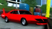 Plymouth Roadrunner Superbird RM23 1970 для GTA San Andreas миниатюра 3