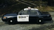 Ford Crown Victoria Police Interceptor 2003 Liberty City Police Department [ELS] для GTA 4 миниатюра 2