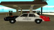 Ford LTD Crown Victoria 1991 Copley Police DARE black, white and red for GTA San Andreas miniature 5