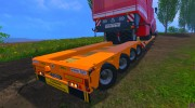 FSMT Heavy transport low loader trailer for Farming Simulator 2015 miniature 6