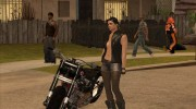 Biker Girl from GTA Online для GTA San Andreas миниатюра 6
