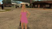 Helena in a pink dress for GTA San Andreas miniature 2