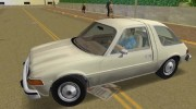 AMC Pacer DL 1978 for GTA Vice City miniature 3