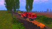 FSMT Heavy transport low loader trailer for Farming Simulator 2015 miniature 5