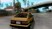 Toyota Corolla Carib AE86 for GTA San Andreas miniature 4