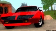 Plymouth Roadrunner Superbird RM23 1970 для GTA San Andreas миниатюра 4