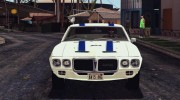 1969 Pontiac Firebird Trans Am Coupe (2337) для GTA San Andreas миниатюра 6