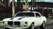 1969 Pontiac Firebird Trans Am Coupe (2337) для GTA San Andreas миниатюра 3