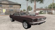 1966 Ford Mustang Fastback Chrome Edition for GTA San Andreas miniature 5