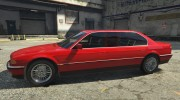 BMW L7 - 750IL E38 for GTA 5 miniature 2