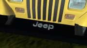 Jeep Wrangler 4.0 Fury 1986 for GTA Vice City miniature 5