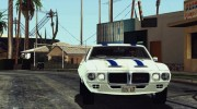 1969 Pontiac Firebird Trans Am Coupe (2337) для GTA San Andreas миниатюра 4