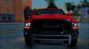 Dodge Ram Rebel 2017 для GTA San Andreas миниатюра 6