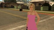 Helena in a pink dress for GTA San Andreas miniature 5