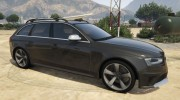 Audi RS4 Avant 2013 for GTA 5 miniature 2