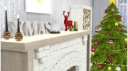 Scandinavian Christmas living for Sims 4 miniature 2