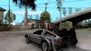 Crysis Delorean BTTF1 for GTA San Andreas miniature 3