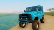 UAZ 469 Blue Star for GTA San Andreas miniature 1