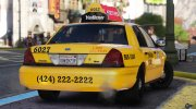 2011 Ford Crown Victoria LA Taxi for GTA 5 miniature 3