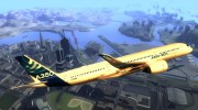 Airbus A350-941 XWB - Airbus House Colors для GTA San Andreas миниатюра 2