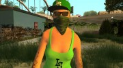 Female GTA Online Grove Style for GTA San Andreas miniature 1