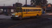 Caisson Elementary C School Bus для GTA 5 миниатюра 5