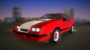 Dodge Daytona Turbo CZ 1986 for GTA Vice City miniature 1