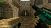 Cyan-black M4 with BvB for Counter Strike 1.6 miniature 3