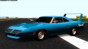 Plymouth Roadrunner Superbird RM23 1970 для GTA San Andreas миниатюра 6