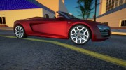 Audi R8 V10 Spyder for GTA San Andreas miniature 2