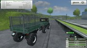 Unimog U 84 406 Series и Trailer v 1.1 Forest for Farming Simulator 2013 miniature 12