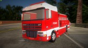 DAF XF 530 Fire Truck for GTA Vice City miniature 1