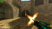 Cyan-black M4 with BvB for Counter Strike 1.6 miniature 2