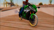Kawasaki ZX10 R R17 for GTA San Andreas miniature 1