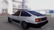Toyota Sprinter Trueno AE86 for GTA San Andreas miniature 2