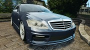 Mercedes-Benz S W221 Wald Black Bison Edition для GTA 4 миниатюра 1