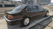 BMW L7 - 750IL E38 for GTA 5 miniature 11