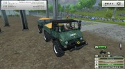 Unimog U 84 406 Series и Trailer v 1.1 Forest for Farming Simulator 2013 miniature 16