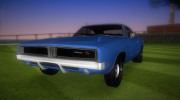 Dodge Charger 1967 for GTA Vice City miniature 1