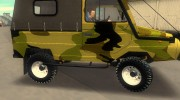 ЛуАЗ 969М Off-Road Лесной камуфляж for GTA 3 miniature 5